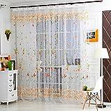 1Pc Elegant Sheer Vorhang, Türkei Schmetterling und Baum Ast Vorhänge Tüll transparent Fenster Behandlung Voile Vorhänge für Wohnzimmer Schlafzimmer Home Decor, 270x 100cm B
