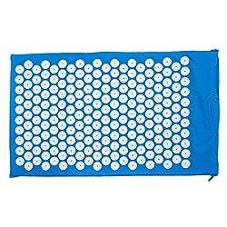 Goods & Gadgets Akupressur-Matte Yogi Nagelmatte Ensptannungs- und Massagematte zur Lockerung von Entspannungen; Blau (75x44cm) mit 7.140 Spitzen