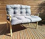 Gartenbankauflage Bankkissen Sitzkissen Polsterauflage Sitzpolster TP4 Grau 100x60x50 cm