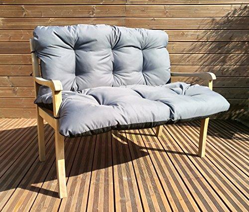 Gartenbankauflage Bankkissen Sitzkissen Polsterauflage Sitzpolster TP4 Grau 150x60x50 cm