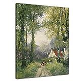 Bilderdepot24 Kunstdruck - Alte Meister - Adolf Kaufmann - Frühling - 30x40cm Einteilig - Leinwandbilder - Bilder als Leinwanddruck - Bild auf Leinwand - Wandbild