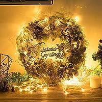 BGHFXS Corona de Navidad Decoraciones de Navidad Guirnalda de Navidad, Puerta de Oro Colgando de visualizacion de la Ventana de diseño Exquisito