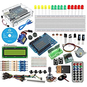 619ag7iloNL. SS300  - [Sintron] Arduino Uno R3 Board Starter Kit with PDF files & Tutorial CD en español + Transparent Acrylic Case LCD Servo Motor Sensor Module etc, for Arduino Starter Learner