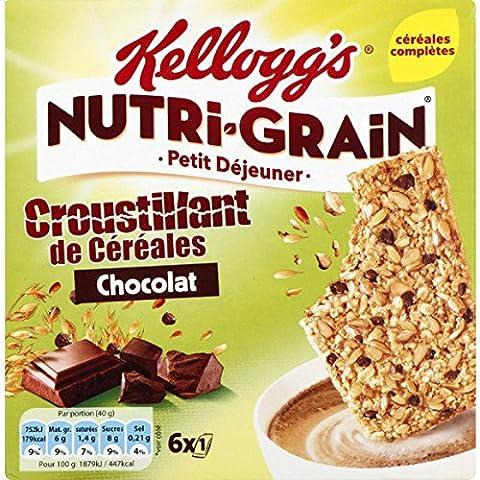 Nutri-Grain Nutri-Grain, croustillant de céréales, au chocolat La boîte de 240g Prix Unitaire - Envoi Rapide et Soignée