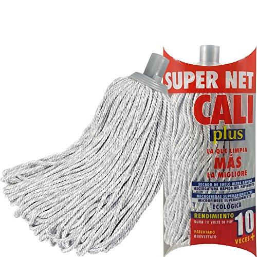 Super Net Cali Fregona de Microfibras Bicolor (Gris, 1)