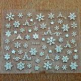 Natale 3D Autoadesivo Glitter Nail Art Manicure Decalcomania foil strumento decorazione Disegno di fiocco di neve