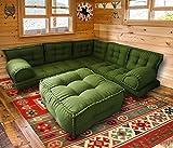 Spirit Juego de 76 sofás esquineros con otomán, sofá de