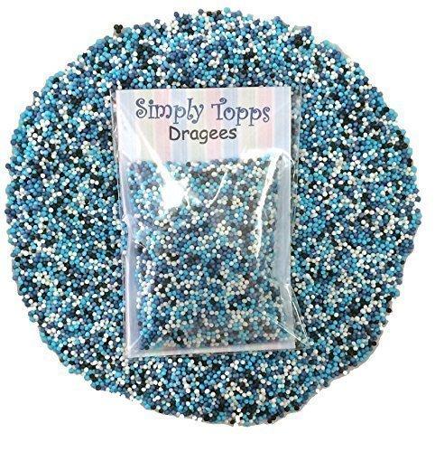 Bleu Glacé Mélange Mini Sugar Boules 30g (approximativement 1mm diamètre) pour gâteau ou décoration decupcakes