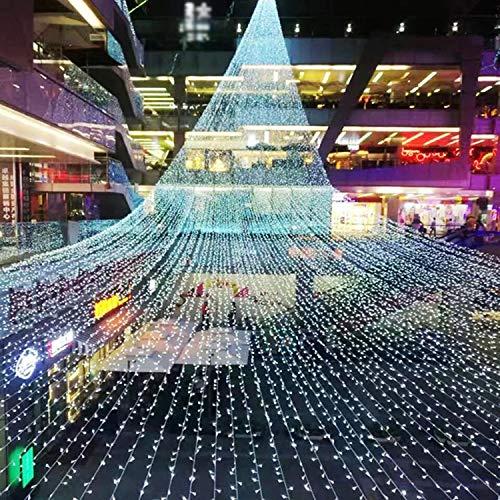 (Weiß) Lichterkette Lichterketten Vorhänge Wasserdichte Lichterketten LED Mit Schwanz Innen-und Außenbereich 8 Programm Timer Dimmen Lichter Innenbeleuchtung, Garten, Hochzeit, Party Dekoration
