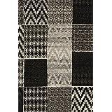 """Sona-Lux diseño de Alfombras tejidas plata """"Seleccionar el tamaño"""" 190 x 280 cm"""
