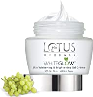 Lotus Herbals Whiteglow Skin Whitening And Brightening Gel Creme, SPF-25, 60g
