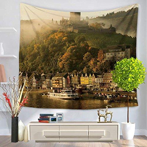 City Scenery Tapestry 100% poliestere–Memorecool telo mare casa appeso coperta ufficio coperte 149,9x 129,5cm, Poliestere, city34, 59x79inch city15