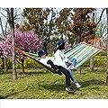 SONGMICS Hängematte mit 2 Kissen, Liegefläche 240 x 150 cm, Belastbarkeit bis 300 kg von Songmics - Gartenmöbel von Du und Dein Garten