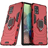 Compatible Samsung Galaxy A71 Case Soft TPU+PC with 360° Rotating Ring Holder Case Magnetic Back Cover, Kickstand Cover for G