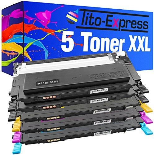 PlatinumSerie® Set 5 Toner XXL für Samsung CLP-320 Black Cyan Magenta Yellow...