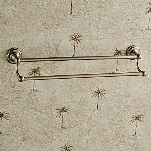 ZHGI Unione retrò asciugamano doppio rack bronzo antico Portasciugamani portasciugamani asciugamano da bagno