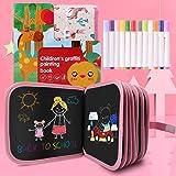 Felly Juegos de Pintura para Niños, Tabla de Dibujo Portátil Graffiti Libros Blandos de Pizarra Juguetes para Educación Prees