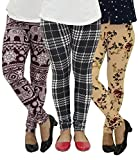 ColorOctopus Women's Ultra Soft Popular Best Printed Fashion Leggings (Pack of 3)