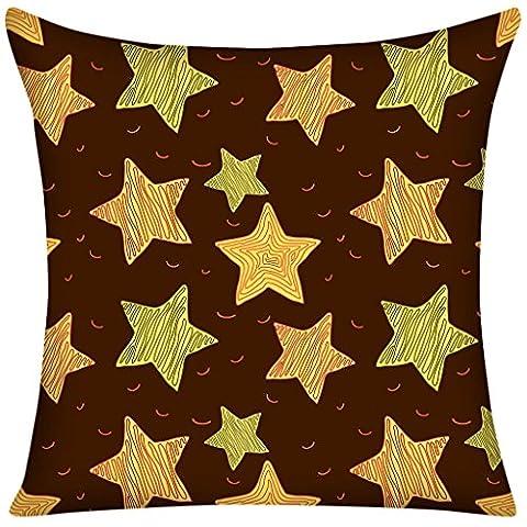 violetpos Taie d'oreiller 80x 80cm étoile Marron Rétro Home Decor jeter Coussin
