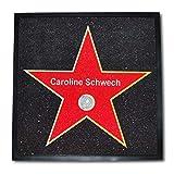 Geschenkbox Fußmatte Hollywood Walk of Fame - Türmatte personalisiert mit Ihrem Namen (60x60 cm)