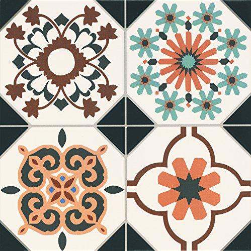 AS-kariert 084399Oxford Deco Fliesen Keramik, mehrfarbig, 9-teiliges Set (Deco-keramik-fliese)