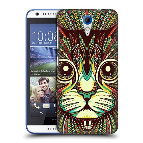 Head Case Designs Kätzchen Aztekische Tiergesichter 2 Ruckseite Hülle für HTC Desire 620/620 Dual SIM