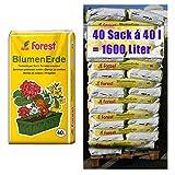 Blumenerde FOREST 40 Sack mit je 40 Liter = 1600 Liter Qualitäts Blumen- & Pflanzerde aus Bayern