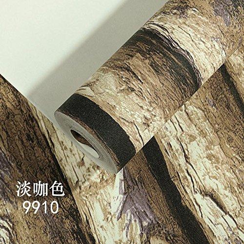 Rinde Wohnzimmer (Tkopainsde Retro Tapeten Mit Holzmaserung 3D-Modellierung Von Bäumen Und Rinde Protokolle Persönlichkeit Hotel Restaurant Hintergrundbild, 9910/Licht/Farbe)