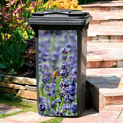 #Gärtner Pötschke Mülltonnen-Aufkleber Lavendel#
