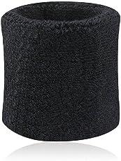 BODHI20001paio Sweatbands sport Wristband cotone elastico Sweatbands per tennis, squash, ginnastica di