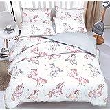 Unicorn Horse Reversible Duvet Quilt Cover + PillowCases (Single) By Pieridae