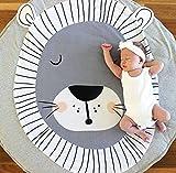 Alfombra Gatear Animales León Bebe Alfombra Redonda Habitación Decoración Infantil Tapete De Juego Manta De Bebé con Relleno