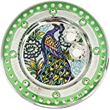 Icrafts India Diwali Green Pooja Puja Thali Tilak Decorative Platter Set - B074Z6P2QK