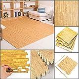 FB FunkyBuys® Holzeffekt 32 Quadrate Ineinandergreifend und umdrehbar, geeignet für Fitnessstudio innen und außen, Bodenschutzmatten – 60x 60cm
