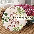 Blancho Bedding Blume - 40cm Baumwolle Stuhl Pad Futon Kissen Boden Runde Sitzkissen Tatami von BLANCHO BEDDING auf Gartenmöbel von Du und Dein Garten