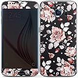 Samsung Galaxy S6 Folie Skin Sticker aus Vinyl-Folie Aufkleber Rosen Blumen Muster