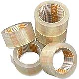 Printation 6x Set 50mm verpakkingstape transparant - sterk klevend, scheurvast en ruisarm pakketband voor pakketten en pakket