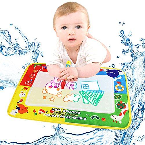 Magnetische Kleinkind Zeichnung (Magic Wasser Doodle Matte–honestyi–4Farbe Wasser Zeichenmatte Board & Magic Pen Doodle Kinder Spielzeug Geschenk 46x 30cm-cloth)