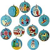ornamenti palle decorazione turchesi del set di cartone di 11