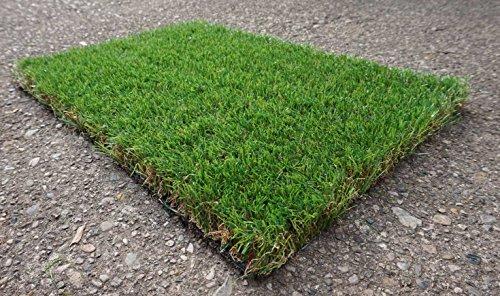 Prato finto erba sintetica manto erboso drenante tappeto esterno effetto secco - Verde
