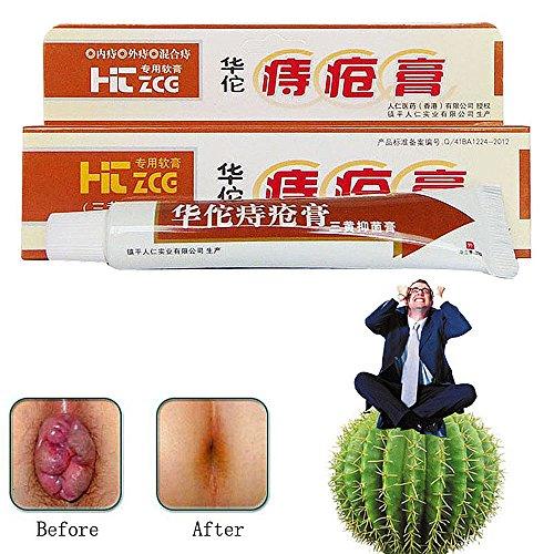 Hua Tuo Hämorrhoiden Salbe, Natürliche Pflanzliche Pflanzliche Materialien Leistungsstarke Hämorrhoiden Creme Anal Creme für Innere...
