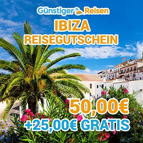 Preisvergleich Produktbild 50 Euro Gutschein von www.günstiger-reisen.de Reisen und Urlaub – Ibiza  50 Euro Cashbackgutschein + 25 Euro GRATIS Cashback-Guthaben