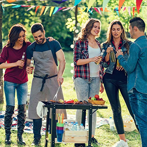 619cjd6RZhL - Tencoz Grillbesteck, BBQ Grillzubehör 20 Set, Barbecue Grillen Werkzeuge Koffer aus Edelstahl mit Wärmeisolierende Griff Ideal für Outdoor Familien Garten Party