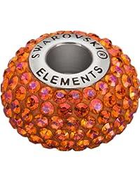 Grand Trou Perles de Verre a enfiler de Swarovski Elements 'BeCharmed Pave' 14.0mm (Crystal Astral Pink, Acier affiné), 12 Pièces