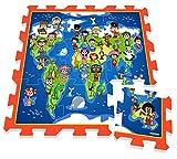 Stamp Puzzlematte Spielteppich Welt Weltkarte Globus 9 TLG