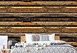 Wallsticker Warehouse Rustikale Holzstruktur Vlies Fototapete Fotomural - Wandbild - Tapete - 254cm x 184cm / 2 Teilig - Gedrückt auf 130gsm Vlies - 2912V4 - Holzwände