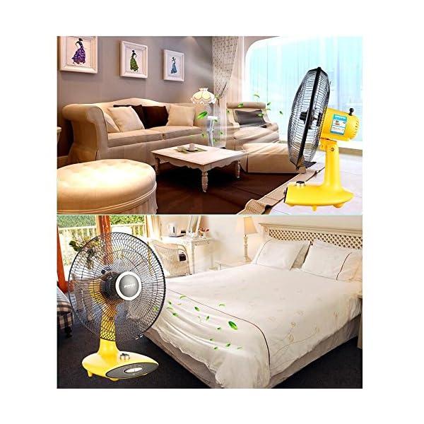 LDFN-Mute-Ventilador-De-Escritorio-Para-La-Oficina-En-El-Hogar-Dormitorio-Al-Aire-Libre-Viaje-Oscilacin-Timing-StandoffYellow
