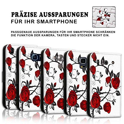 Wallet Book Style Flip Handy Tasche Case Schutz Hülle Schale Motiv Etui für Apple iPhone 6 / 6S - Variante UMV10 Design12 Design 2
