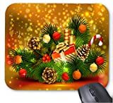 Gaming Mouse Pad Frohe Weihnachten Foto Muster 26 Design f¨¹r Desktop und Laptop 1 Pack