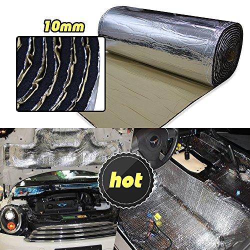 Preisvergleich Produktbild lingda 10mm Hitzeschild Thermo Isolierung Proof deadener Matte Auto Noise Control Akustische Dmpfung feuchtigkeitsfest Wasserdicht